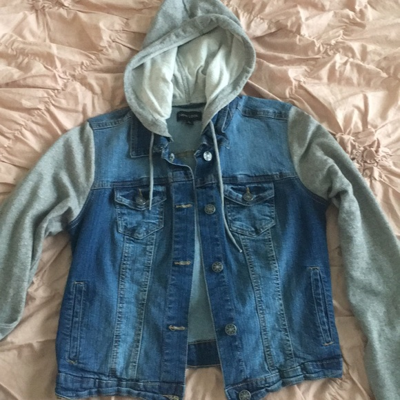 Urban Outfitters Jackets Coats Hooded Jean Jacket With